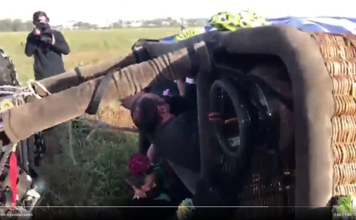 Imagen del vídeo de José Manuel Soto en globo por Sevilla / Tw