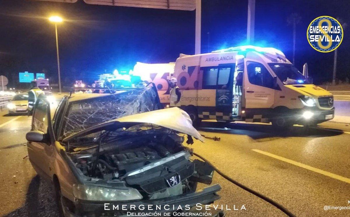 Choque de coches en Sevilla