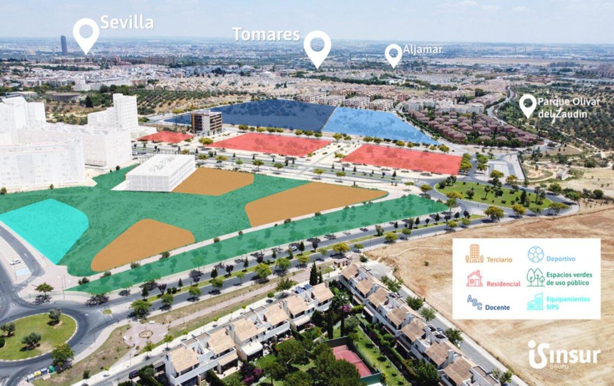 Plano desarrollo inmobiliario de Tomares