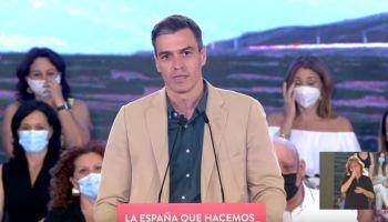 Pedro Sánchez en el acto de Juan Espadas en Sevilla / SA