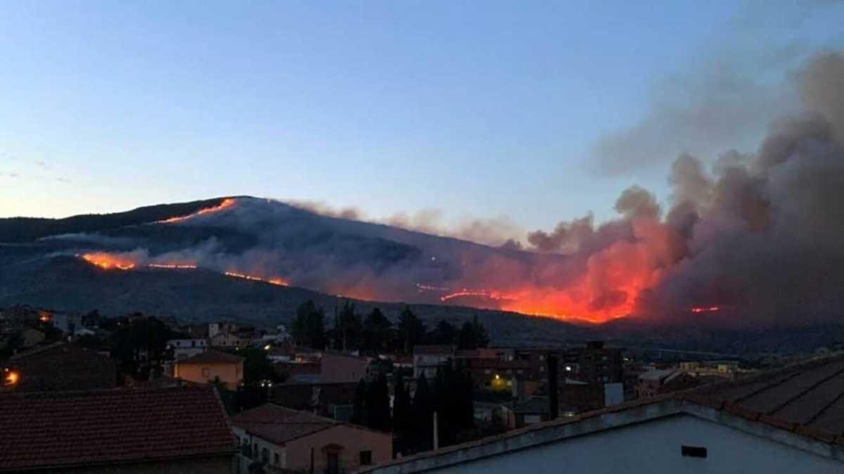 El pirómano provocó un fuerte incendio en La Línea de la Concepción / Ayto. de San Roque