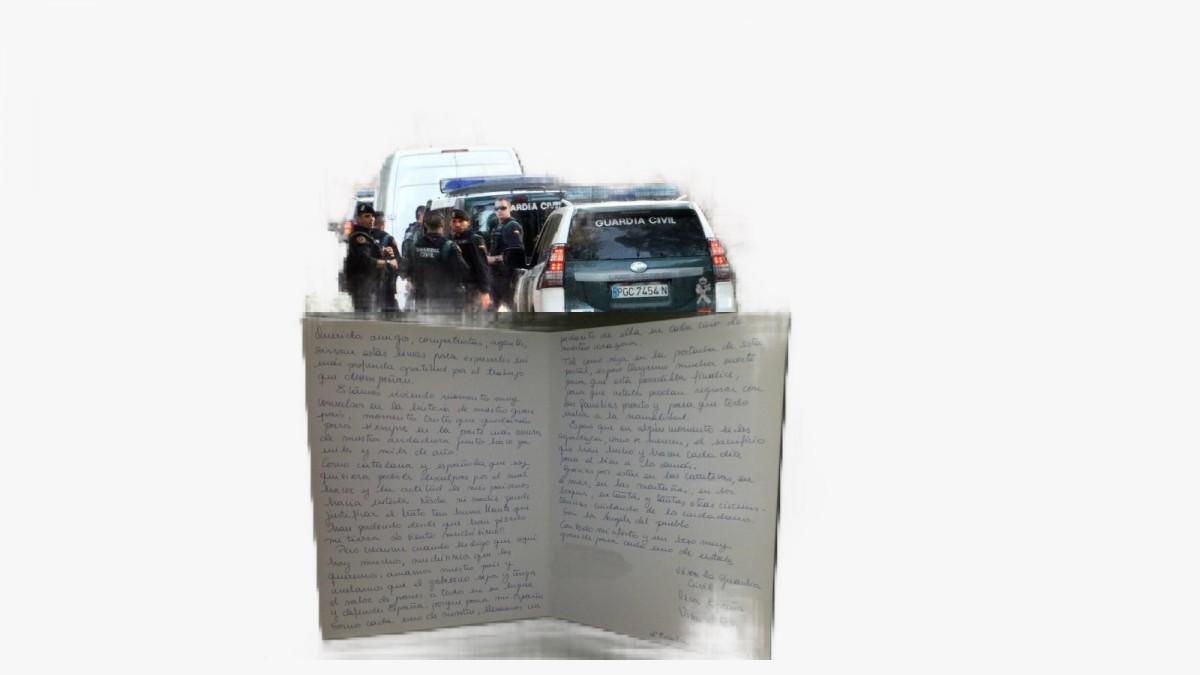 Carta manuscrita dirigida a los agentes.