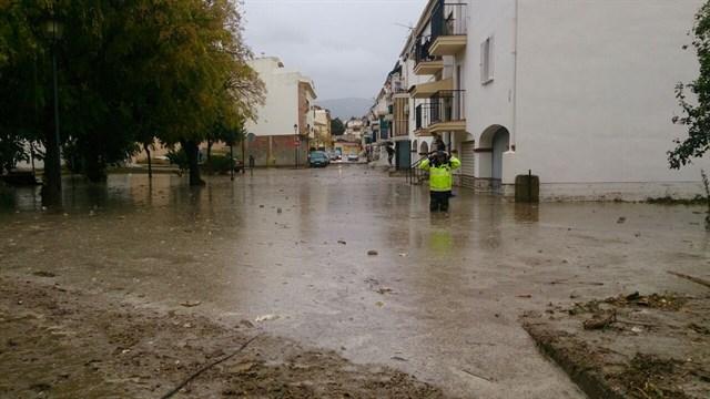 Las anegaciones han afectado a varias localidades de la provincia de Sevilla.