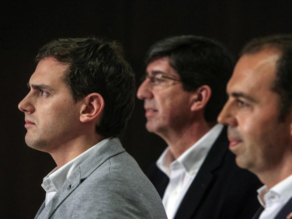 Albert Rivera, Juan Marín y Javier Millán