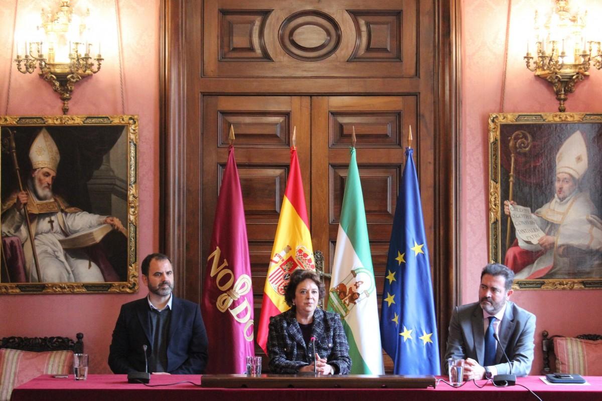 Carmen Castreño, ha presentado hoy esta primera edición de DreamHack Sevilla, junto con Jesús Rojas, gerente de FIBES, y el director de DreamHack Spain, Arturo Castelló