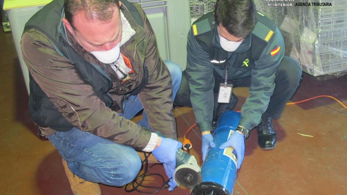 La droga estaba oculta en tubos de PVC