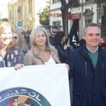 Manifestación por la equiparación salarial. Solo faltó Zoido