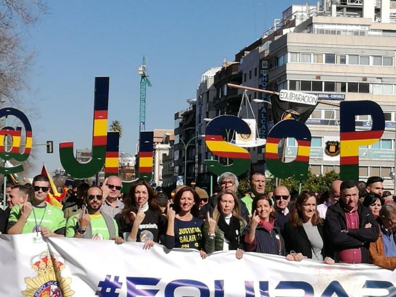 Representantes de VOX en Sevilla, Fátima Azmani, Reyes Romero y Maria José Piñero