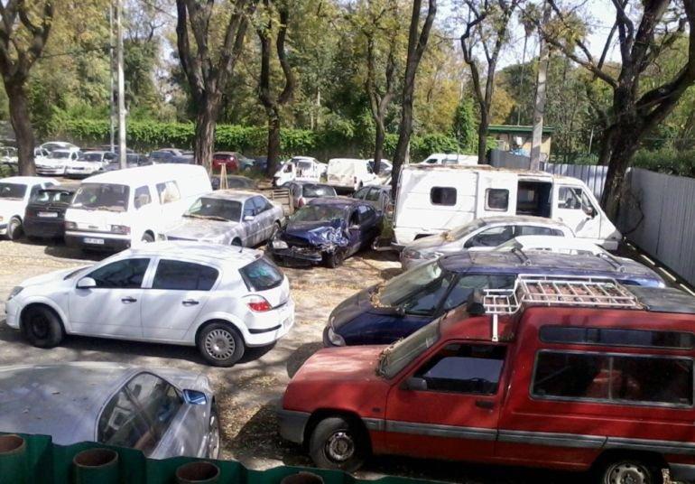 Depósito de vehículos del Ayuntamiento de Sevilla