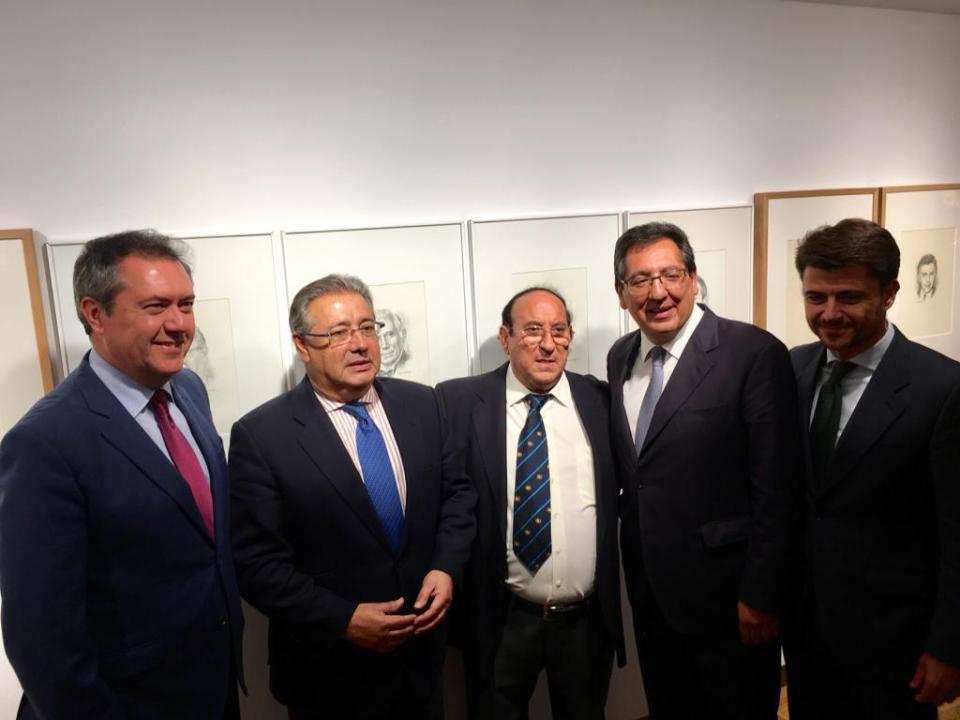 De izquierda a derecha, Espadas, Zoido, Valdés, Pulido y Pérez