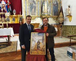 Juan Carlos Hervás ganador del concurso de Santa Genoveva con una imagen de Nuestro Padre Jesús Cautivo por el Arco del Postigo