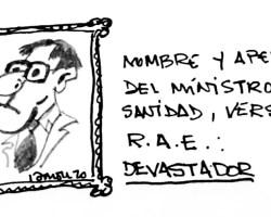 Ministro de Sanidad, versión R.A.E