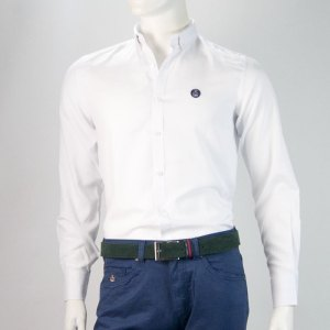 Sevillano y Molina - Camisa Semientallada Blanco