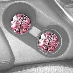 Cherry Blossom Car Coasters