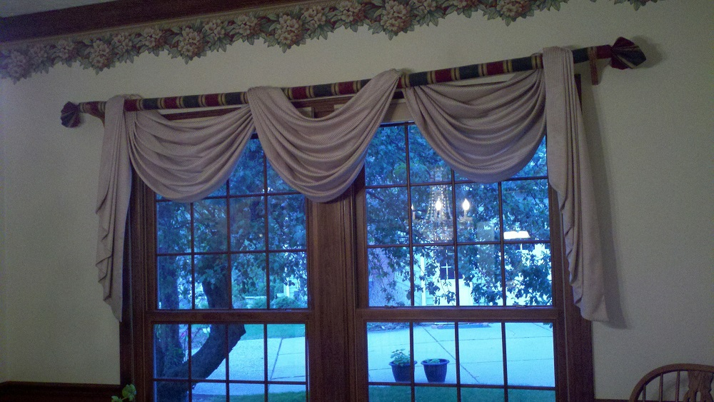 Dining Room Swag Curtains Sew What Sew Anything