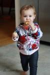 sewalittleseam.com, Toddler Striped Floral Zip Up Hoodie