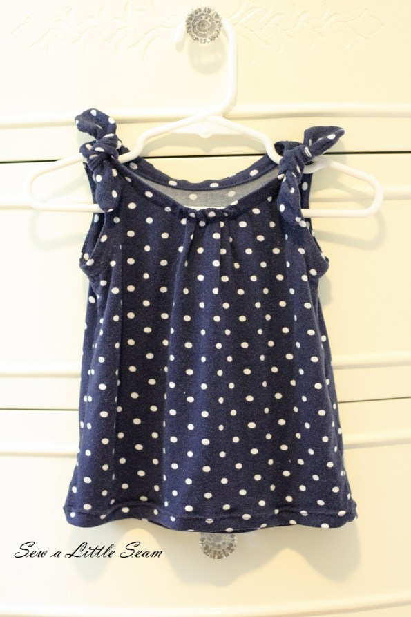sewalittleseam.com, Gap Knock-Off Polka Dot Tie Tank