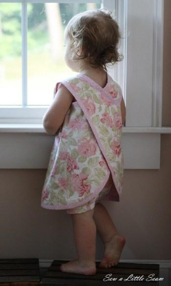 Toddler Pinafore Cross Back Dress