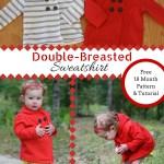 Double-Breasted Hooded Sweatshirt