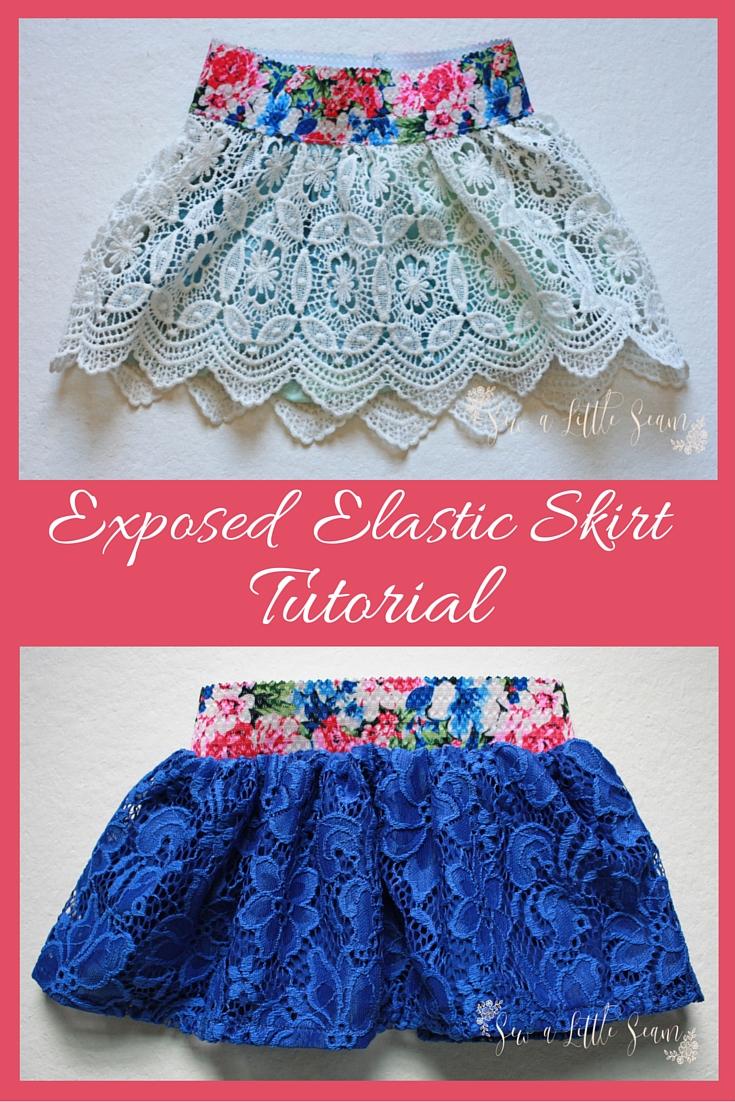 Exposed Elastic Skirt Tutorial - Sew a Little Seam