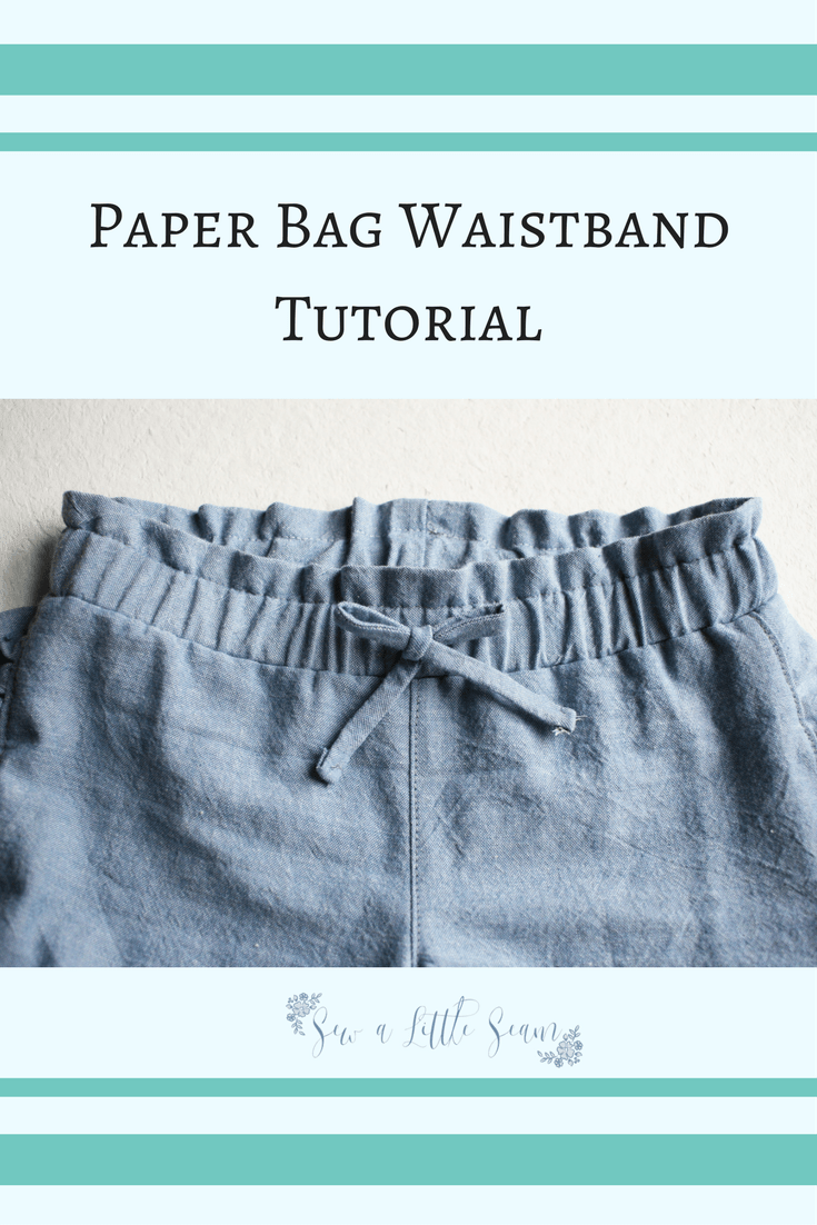 Paper Bag Waistband Tutorial