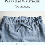 Paper Bag Waist Tutorial