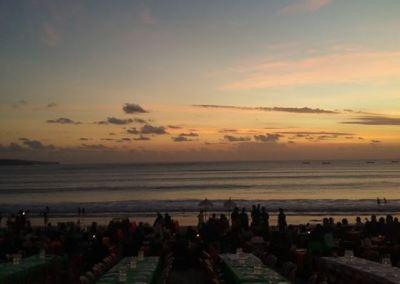 Pantai Jimbaran Bali Sunset Makan Malam Seafood 03-12092016