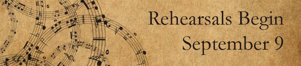 Rehearsals Resume Thursday, September 9, 2021