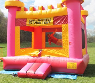 Pink Castle - Inflatable Bounce House