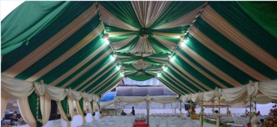 tenda vip gold hijau