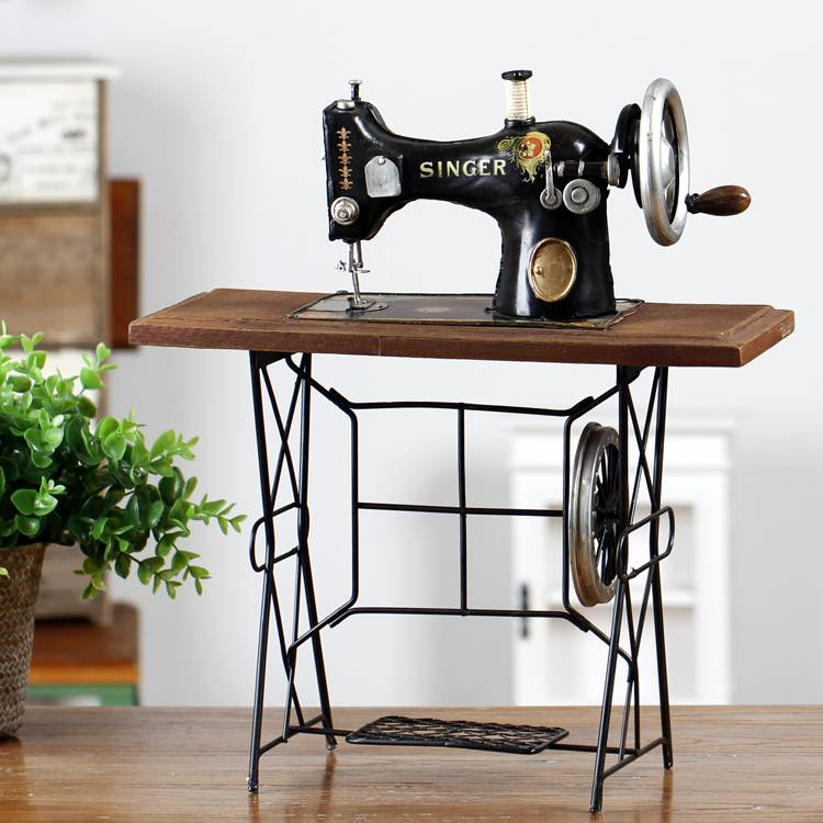 Vintage sewing machine used for decorating
