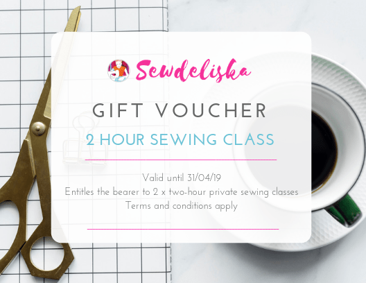 Gift voucher for sewing