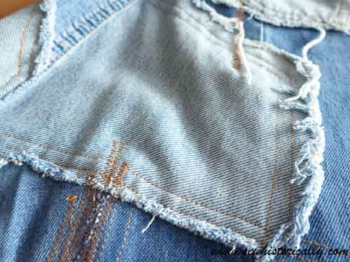 DIY Distressed Denim Skirt Sew Historically