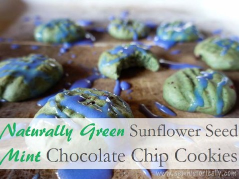 Naturally Green Sunflower Seed Mint Chocolate Chip Cookies