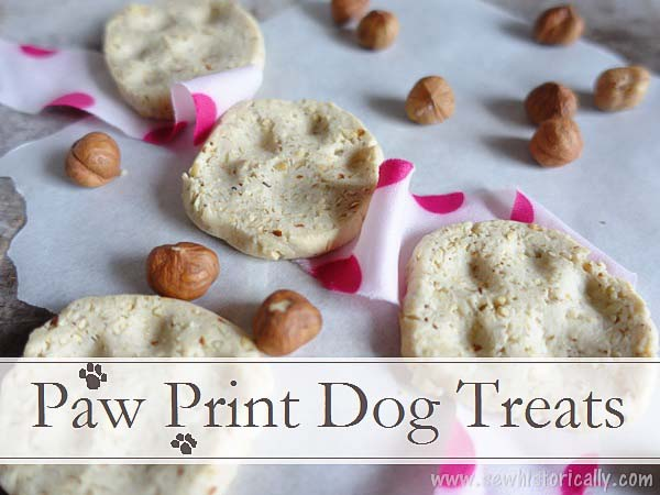 Paw Print Dog Treats by Sew Historically