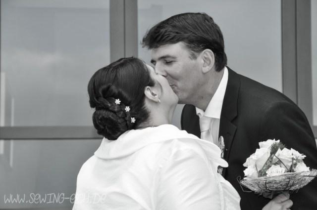 Hochzeitsbild - fast schwarz-weiß Bildstil