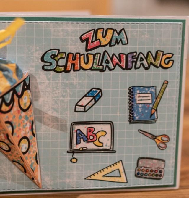 gestaltete Karte mit dem Schulanfangs Set von Tante Plotta