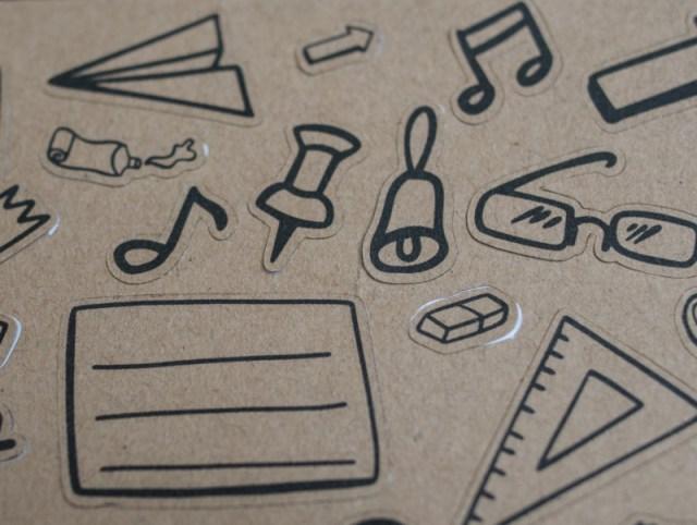 Craftpapiersticker zur Einschulung mit Motiven von Tante Plotta
