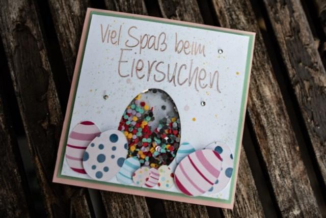 Schüttelkarte zu Ostern