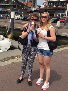 eating an ice-cream with our youngest daughter in the harbor of Scheveningen