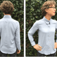 dress shirt feminine styled with DPC
