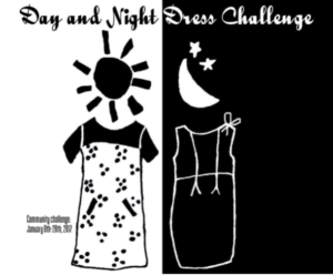 Day and Night Dress Challenge your makes