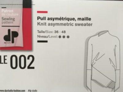 DP Studio Fashion Pull Asymétrique Maille LE 002
