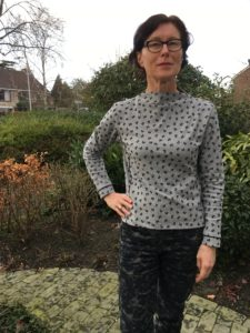 Early 60s styled High-necked Top