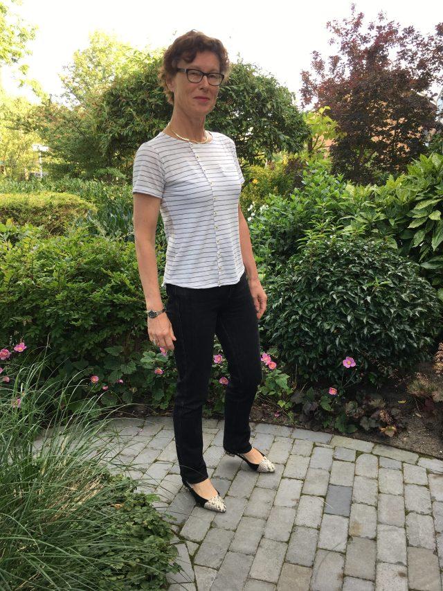 Nanoo Lillian dress inspired refashion Top