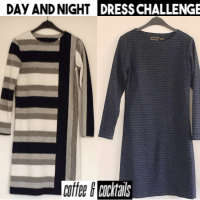 één patroon twee jurken Day&Night Dress uitdaging 2018