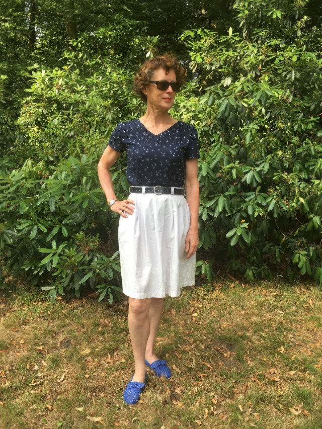 Two discarded clothes turned into new two piece summer set