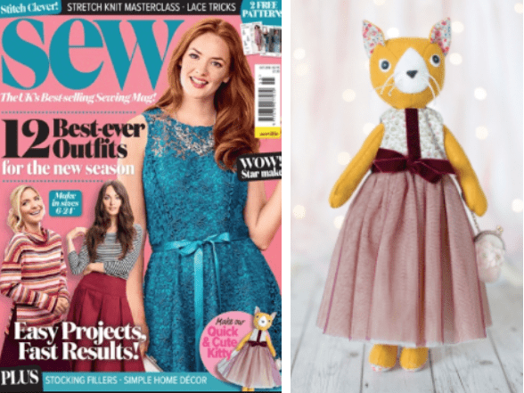 Sew Magazine Clementine Cat well-dressed