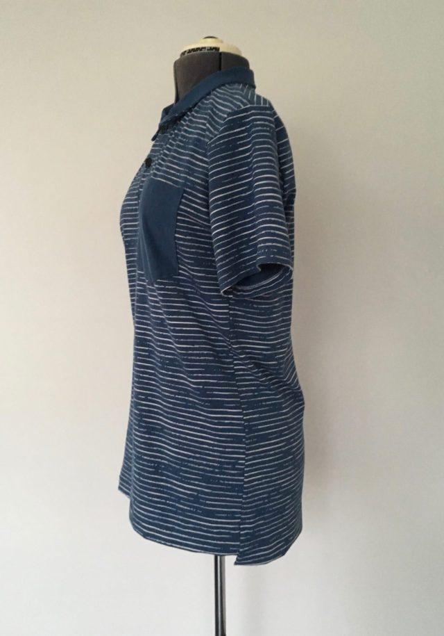 Megan Blue fabrics poloshirt