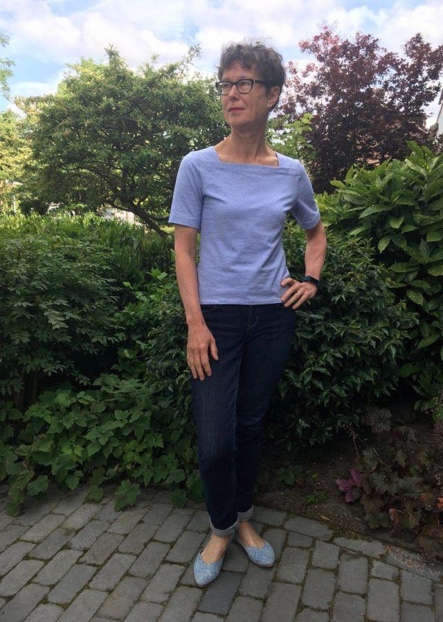 Breton style streep shirt